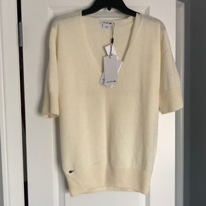 NWT LACOSTE V-NECK KNIT TOP